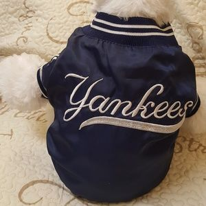 Other - Small puppy New York Yankees classic blue jacket